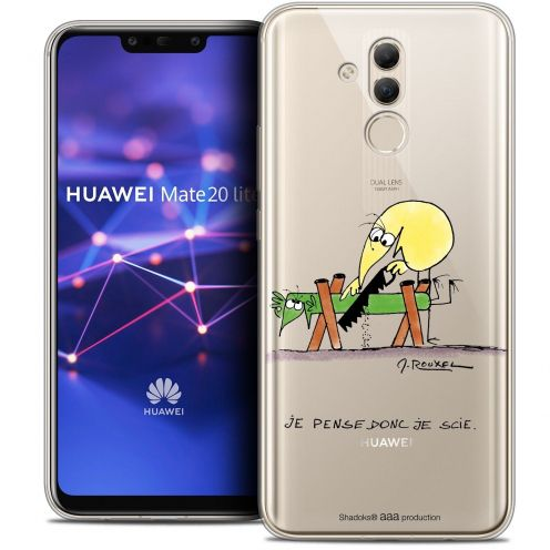 "Coque Gel Huawei Mate 20 Lite (6.3"") Extra Fine Les Shadoks® - Je pense Donc"