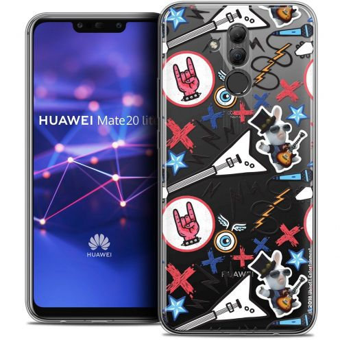 "Coque Gel Huawei Mate 20 Lite (6.3"") Extra Fine Lapins Crétins™ - Rock Pattern"