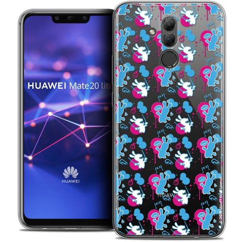 "Coque Gel Huawei Mate 20 Lite (6.3"") Extra Fine Lapins Crétins™ - Rugby Pattern"