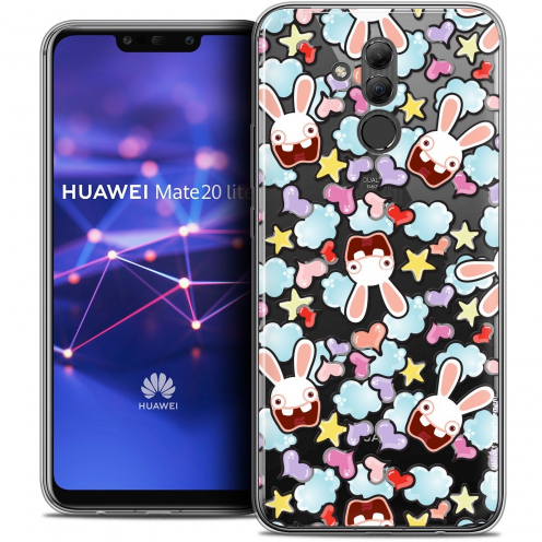 "Coque Gel Huawei Mate 20 Lite (6.3"") Extra Fine Lapins Crétins™ - Love Pattern"
