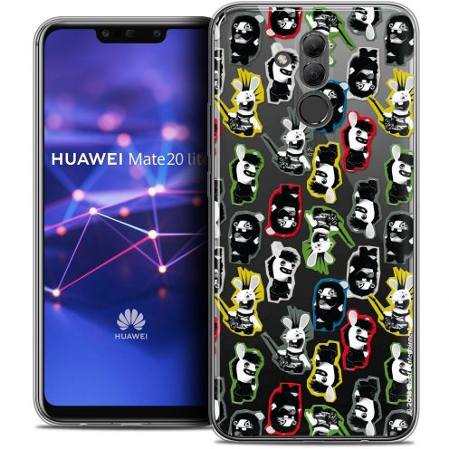 "Coque Gel Huawei Mate 20 Lite (6.3"") Extra Fine Lapins Crétins™ - Punk Pattern"