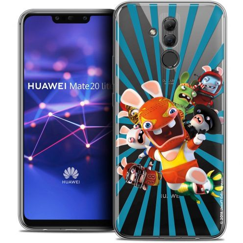 "Coque Gel Huawei Mate 20 Lite (6.3"") Extra Fine Lapins Crétins™ - Super Heros"