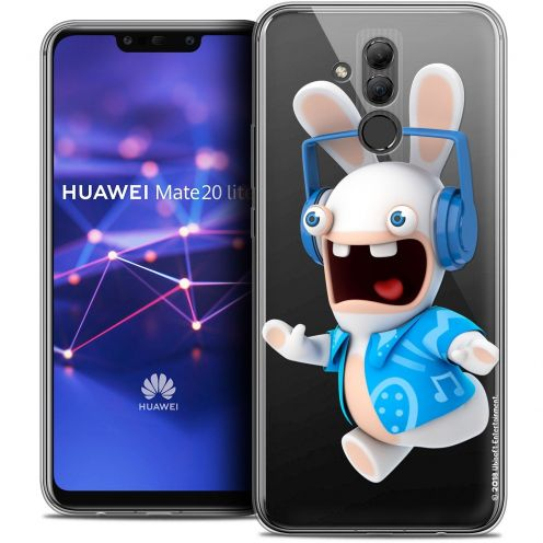 "Coque Gel Huawei Mate 20 Lite (6.3"") Extra Fine Lapins Crétins™ - Techno Lapin"