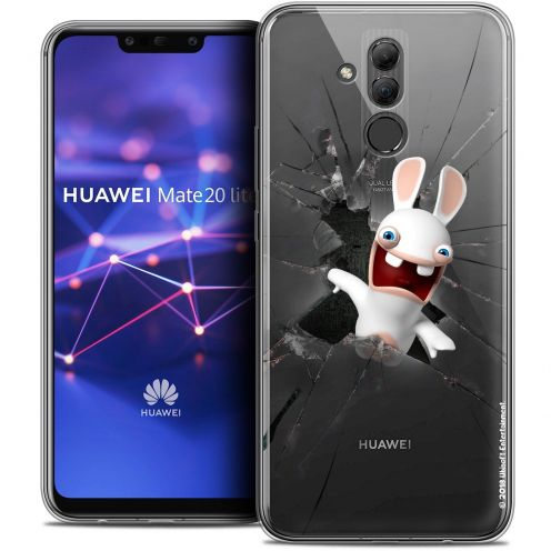 "Coque Gel Huawei Mate 20 Lite (6.3"") Extra Fine Lapins Crétins™ - Breaking Glass"