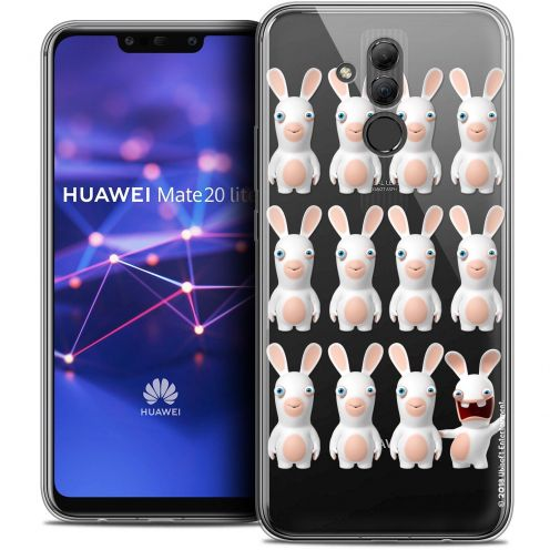 "Coque Gel Huawei Mate 20 Lite (6.3"") Extra Fine Lapins Crétins™ - Im ready Pattern"