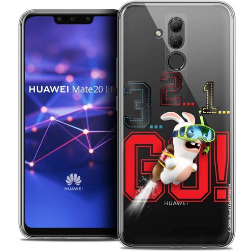 "Coque Gel Huawei Mate 20 Lite (6.3"") Extra Fine Lapins Crétins™ - 321 Go !"