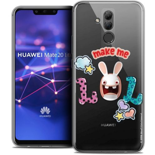 "Coque Gel Huawei Mate 20 Lite (6.3"") Extra Fine Lapins Crétins™ - LOL"