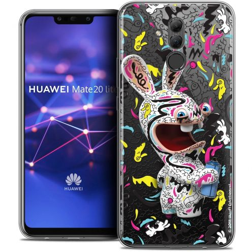 "Coque Gel Huawei Mate 20 Lite (6.3"") Extra Fine Lapins Crétins™ - Tag"