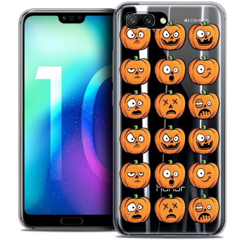 "Coque Crystal Gel Huawei Honor 10 (5.8"") Extra Fine Halloween - Cartoon Citrouille"