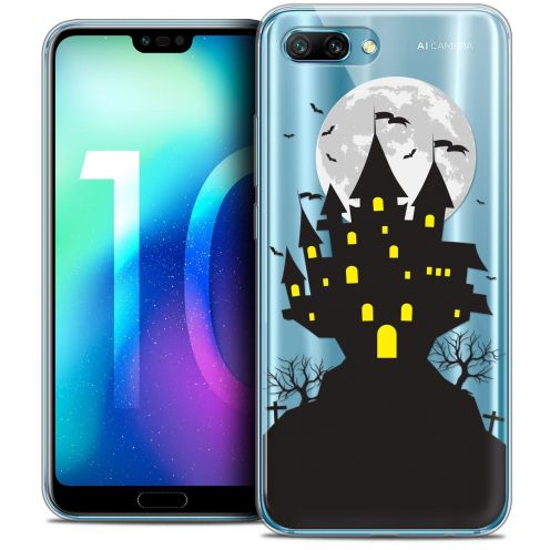 "Coque Crystal Gel Huawei Honor 10 (5.8"") Extra Fine Halloween - Castle Scream"