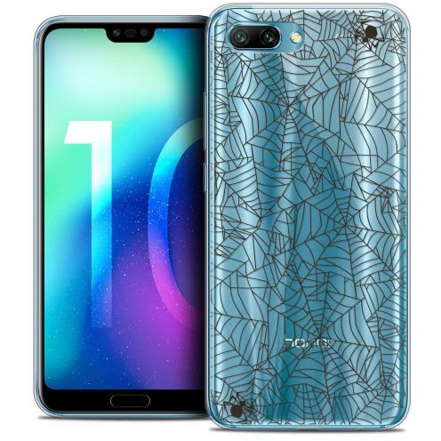 "Coque Crystal Gel Huawei Honor 10 (5.8"") Extra Fine Halloween - Spooky Spider"