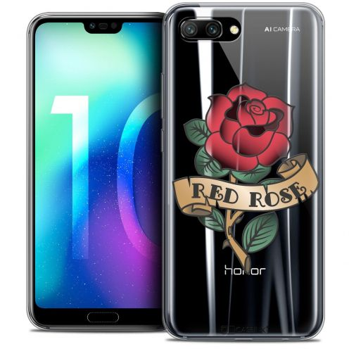 "Coque Crystal Gel Huawei Honor 10 (5.8"") Extra Fine Tatoo Lover - Red Rose"