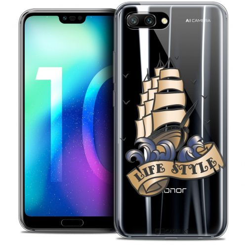 "Coque Crystal Gel Huawei Honor 10 (5.8"") Extra Fine Tatoo Lover - Life Style"