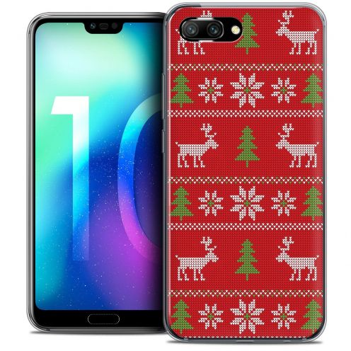 """Coque Crystal Gel Huawei Honor 10 (5.8"""") Extra Fine Noël 2017 - Couture Rouge"""