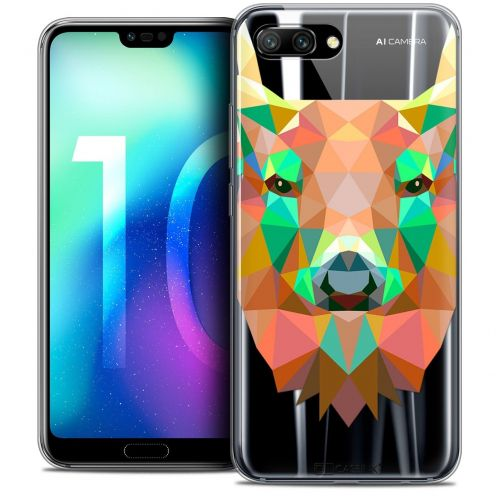 "Coque Crystal Gel Huawei Honor 10 (5.8"") Extra Fine Polygon Animals - Cerf"