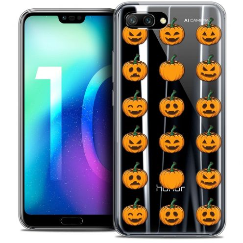 "Coque Crystal Gel Huawei Honor 10 (5.8"") Extra Fine Halloween - Smiley Citrouille"