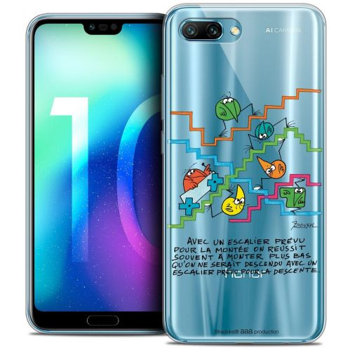 "Coque Gel Huawei Honor 10 (5.8"") Extra Fine Les Shadoks® - L'escalier"