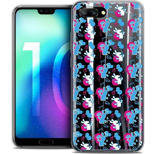 "Coque Gel Huawei Honor 10 (5.8"") Extra Fine Lapins Crétins™ - Rugby Pattern"