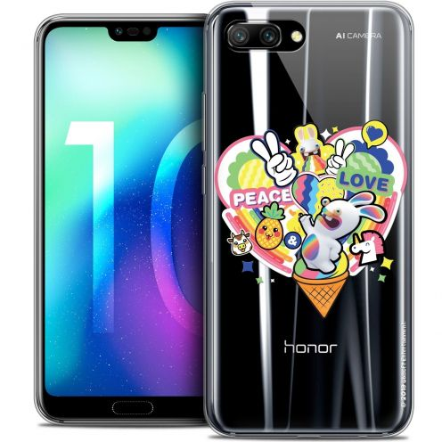 "Coque Gel Huawei Honor 10 (5.8"") Extra Fine Lapins Crétins™ - Peace And Love"