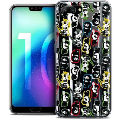 "Coque Gel Huawei Honor 10 (5.8"") Extra Fine Lapins Crétins™ - Punk Pattern"