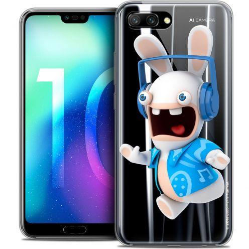"Coque Gel Huawei Honor 10 (5.8"") Extra Fine Lapins Crétins™ - Techno Lapin"