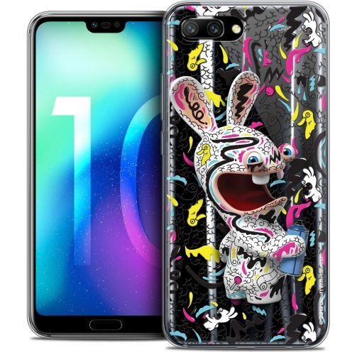 "Coque Gel Huawei Honor 10 (5.8"") Extra Fine Lapins Crétins™ - Tag"