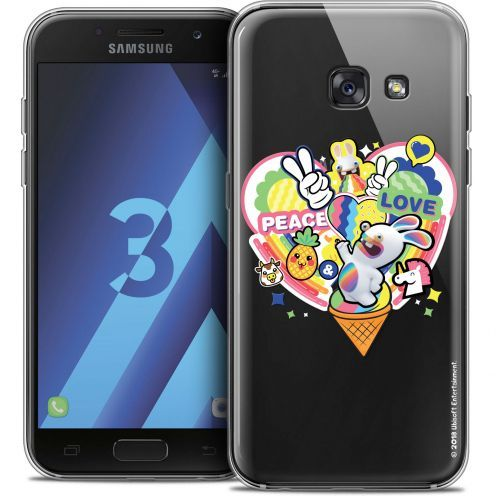 Coque Samsung Galaxy A3 2017 (A320) Extra Fine Lapins Crétins™ - Peace And Love