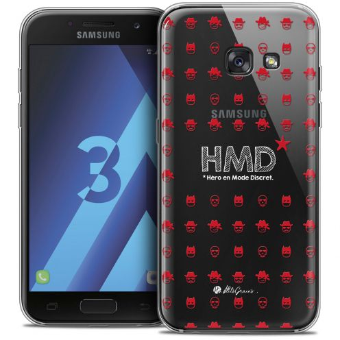 Coque Samsung Galaxy A3 2017 (A320) Extra Fine Petits Grains® - HMD* Hero en Mode Discret