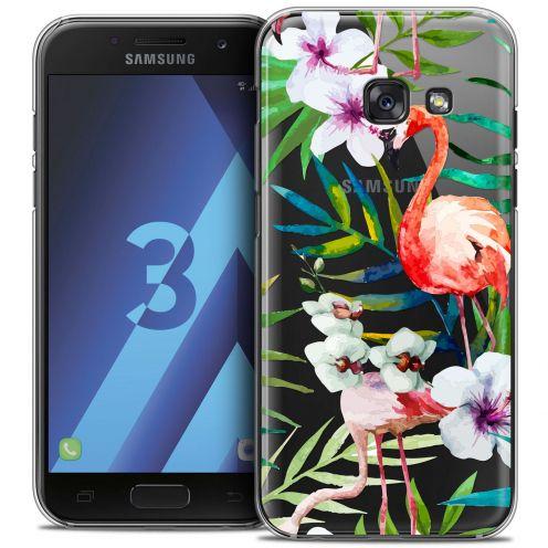Coque Crystal Samsung Galaxy A3 2017 (A320) Extra Fine Watercolor - Tropical Flamingo
