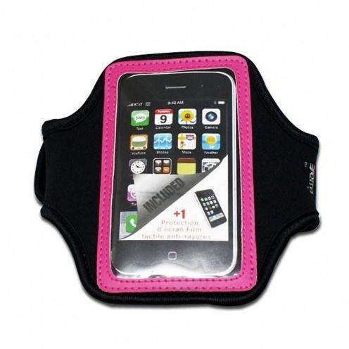 Brassard Sport en Néoprène iPhone 3G / iPhone 4 / 4S / Touch Rose