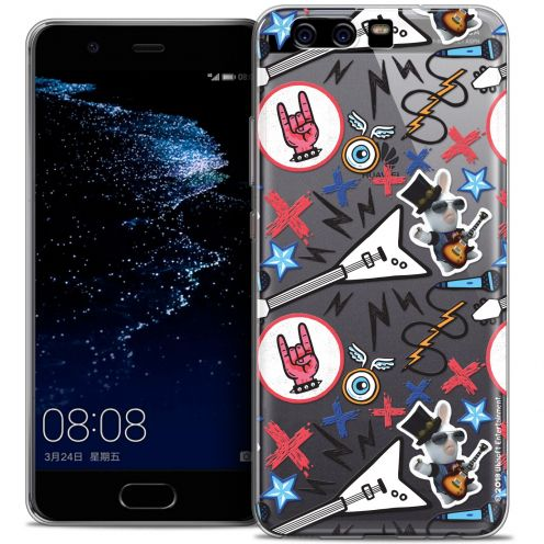 Coque Gel Huawei P10 Extra Fine Lapins Crétins™ - Rock Pattern