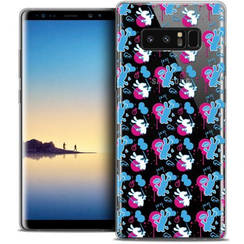 """Coque Gel Samsung Galaxy Note 8 (6.3"""") Extra Fine Lapins Crétins™ - Rugby Pattern"""
