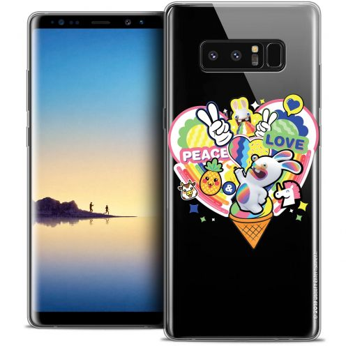 """Coque Gel Samsung Galaxy Note 8 (6.3"""") Extra Fine Lapins Crétins™ - Peace And Love"""