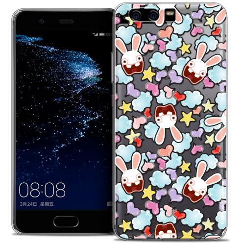 Coque Gel Huawei P10 Extra Fine Lapins Crétins™ - Love Pattern