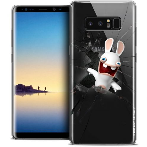 """Coque Gel Samsung Galaxy Note 8 (6.3"""") Extra Fine Lapins Crétins™ - Breaking Glass"""