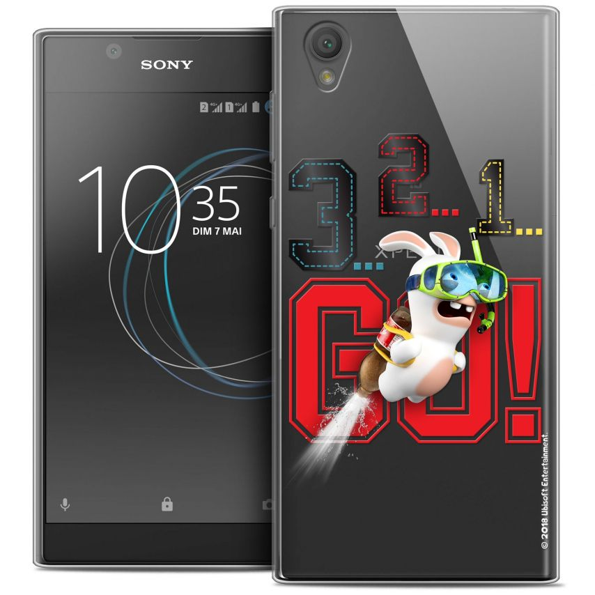 """Coque Gel Sony Xperia L1 (5.5"""") Extra Fine Lapins Crétins™ - 321 Go !"""