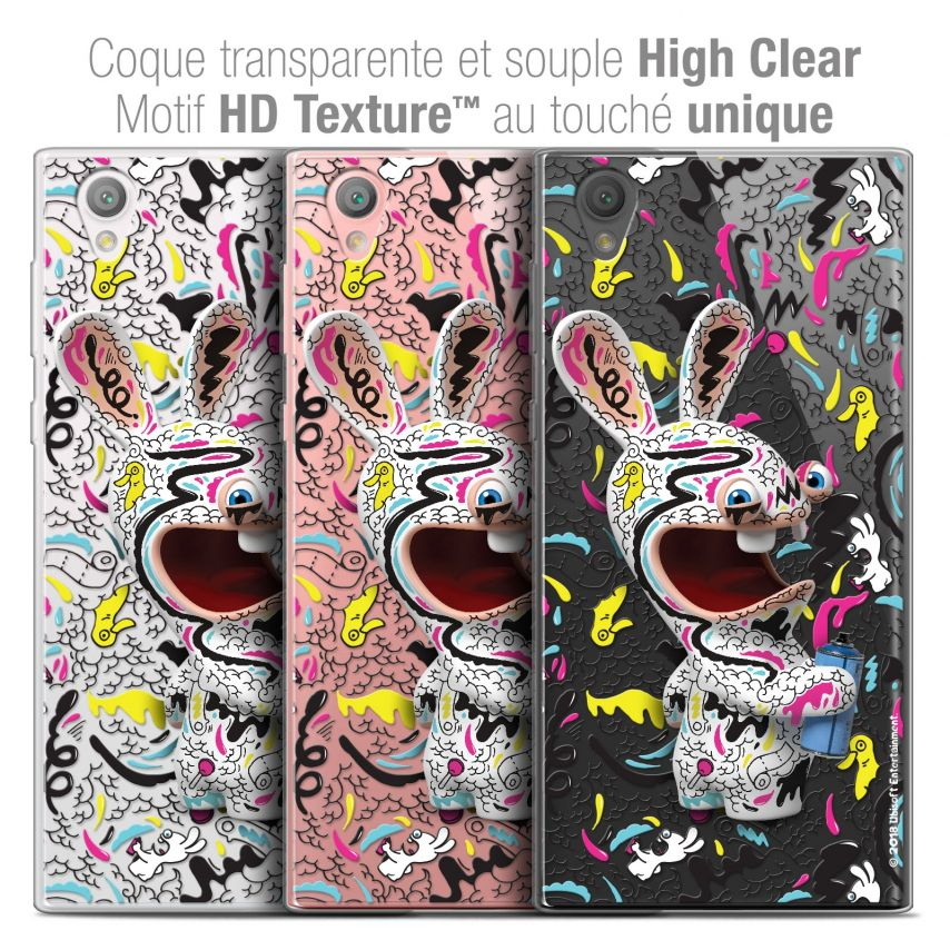 """Coque Gel Sony Xperia L1 (5.5"""") Extra Fine Lapins Crétins™ - Tag"""