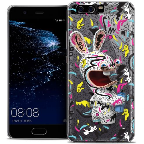 Coque Gel Huawei P10 Extra Fine Lapins Crétins™ - Tag