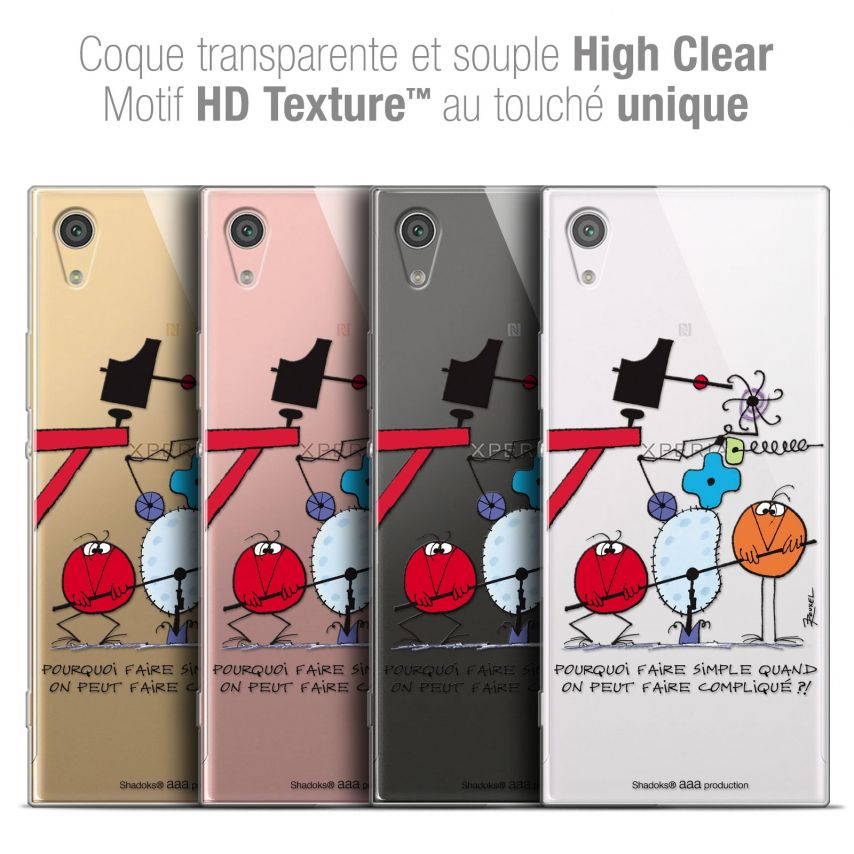 """Coque Gel Sony Xperia XA1 Ultra (6"""") Extra Fine Les Shadoks® - Pourquoi faire Simple"""