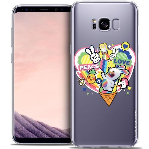 Coque Gel Samsung Galaxy S8 (G950) Extra Fine Lapins Crétins™ - Peace And Love