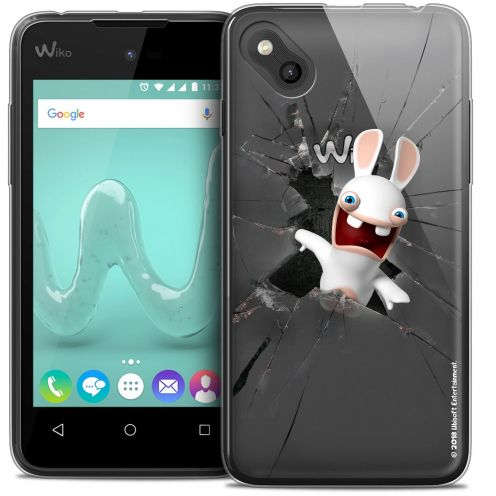 Coque Gel Wiko Sunny Extra Fine Lapins Crétins™ - Breaking Glass