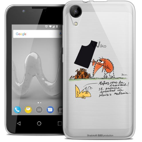 """Coque Wiko Sunny 2 Gel (4"""") Extra Fine Les Shadoks® - Le Travail"""
