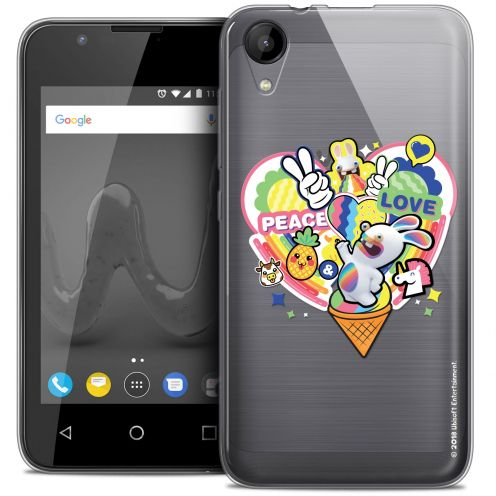 """Coque Wiko Sunny 2 Gel (4"""") Extra Fine Lapins Crétins™ - Peace And Love"""
