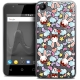 """Coque Wiko Sunny 2 Gel (4"""") Extra Fine Lapins Crétins™ - Love Pattern"""