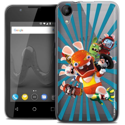 """Coque Wiko Sunny 2 Gel (4"""") Extra Fine Lapins Crétins™ - Super Heros"""