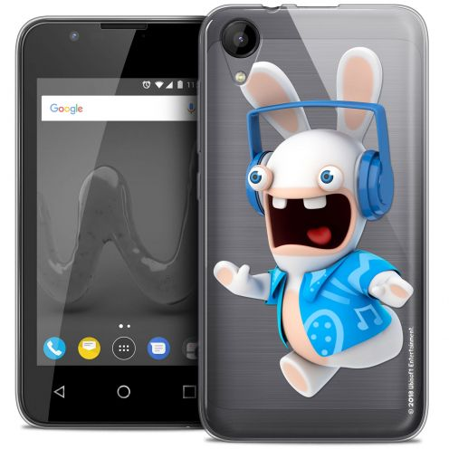 """Coque Wiko Sunny 2 Gel (4"""") Extra Fine Lapins Crétins™ - Techno Lapin"""