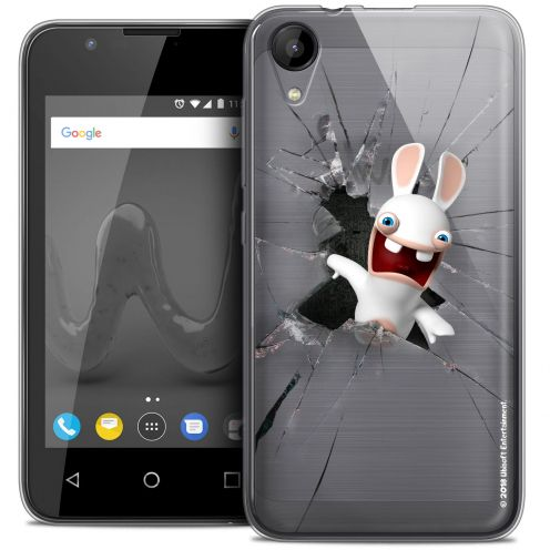 """Coque Wiko Sunny 2 Gel (4"""") Extra Fine Lapins Crétins™ - Breaking Glass"""