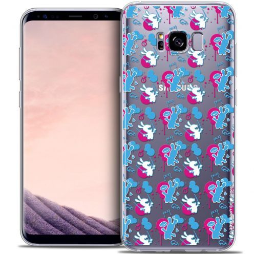 Coque Gel Samsung Galaxy S8+/ Plus (G955) Extra Fine Lapins Crétins™ - Rugby Pattern
