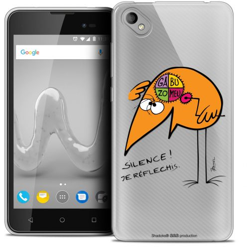 "Coque Gel Wiko Sunny 2 PLUS (5"") Extra Fine Les Shadoks® - Silence !"