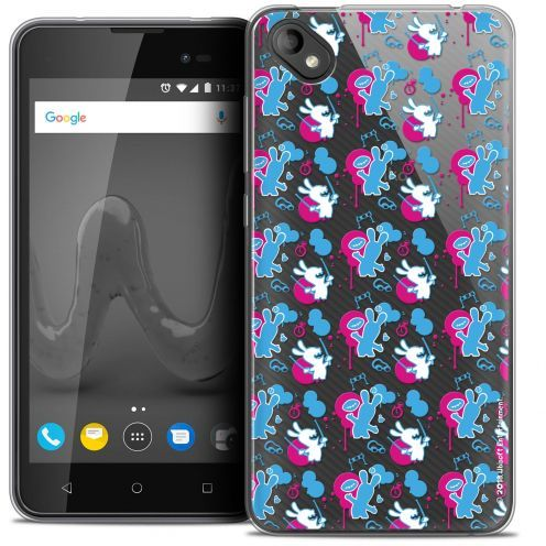 """Coque Gel Wiko Sunny 2 PLUS (5"""") Extra Fine Lapins Crétins™ - Rugby Pattern"""